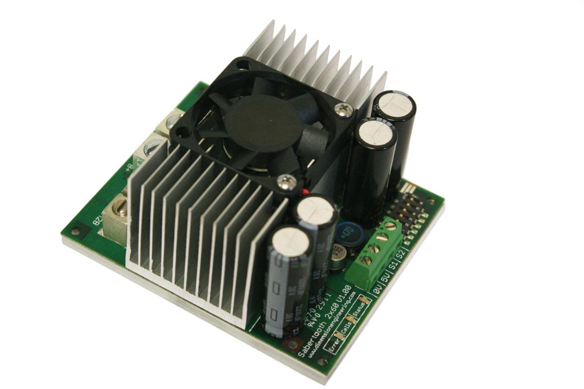 sabertooth 2x60 regenerative dual motor driver rh dimensionengineering com